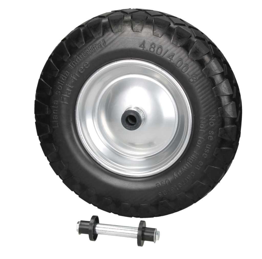 2x 15 roue de brouette pu pneu chariot noir. Black Bedroom Furniture Sets. Home Design Ideas