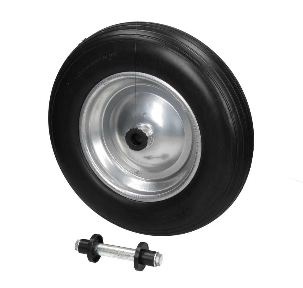 roue de secours brouette noir 350 pu avec axe chariot enfants 150 kg ebay. Black Bedroom Furniture Sets. Home Design Ideas