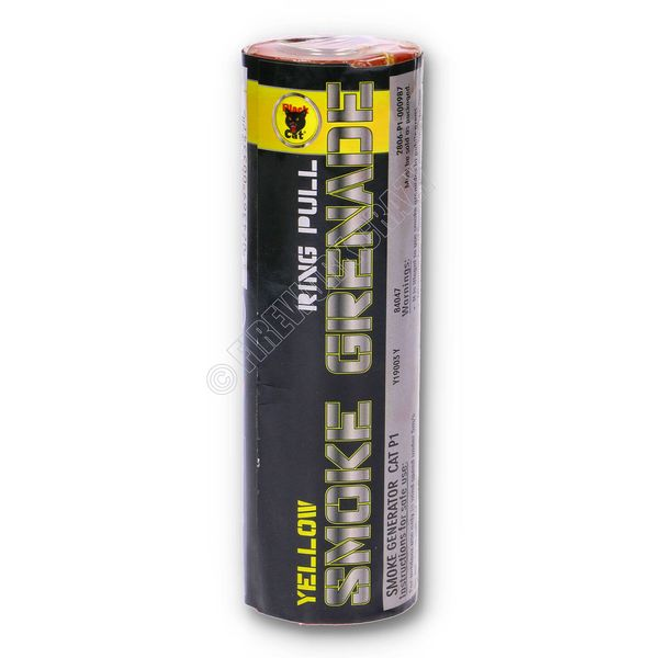 Yellow Smoke Grenade - By Black Cat Fireworks