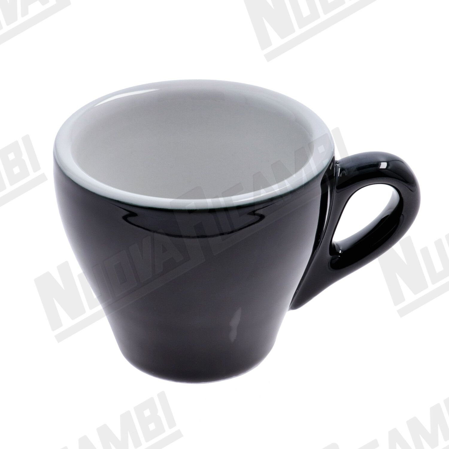 GENOVA BLACK PORCELAIN COFFEE CUP ( 80cc )