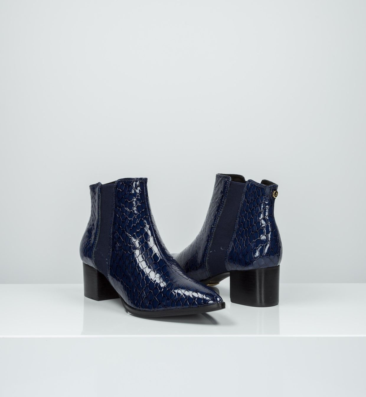 hot products best site high quality guarantee Navy blue ankle boots