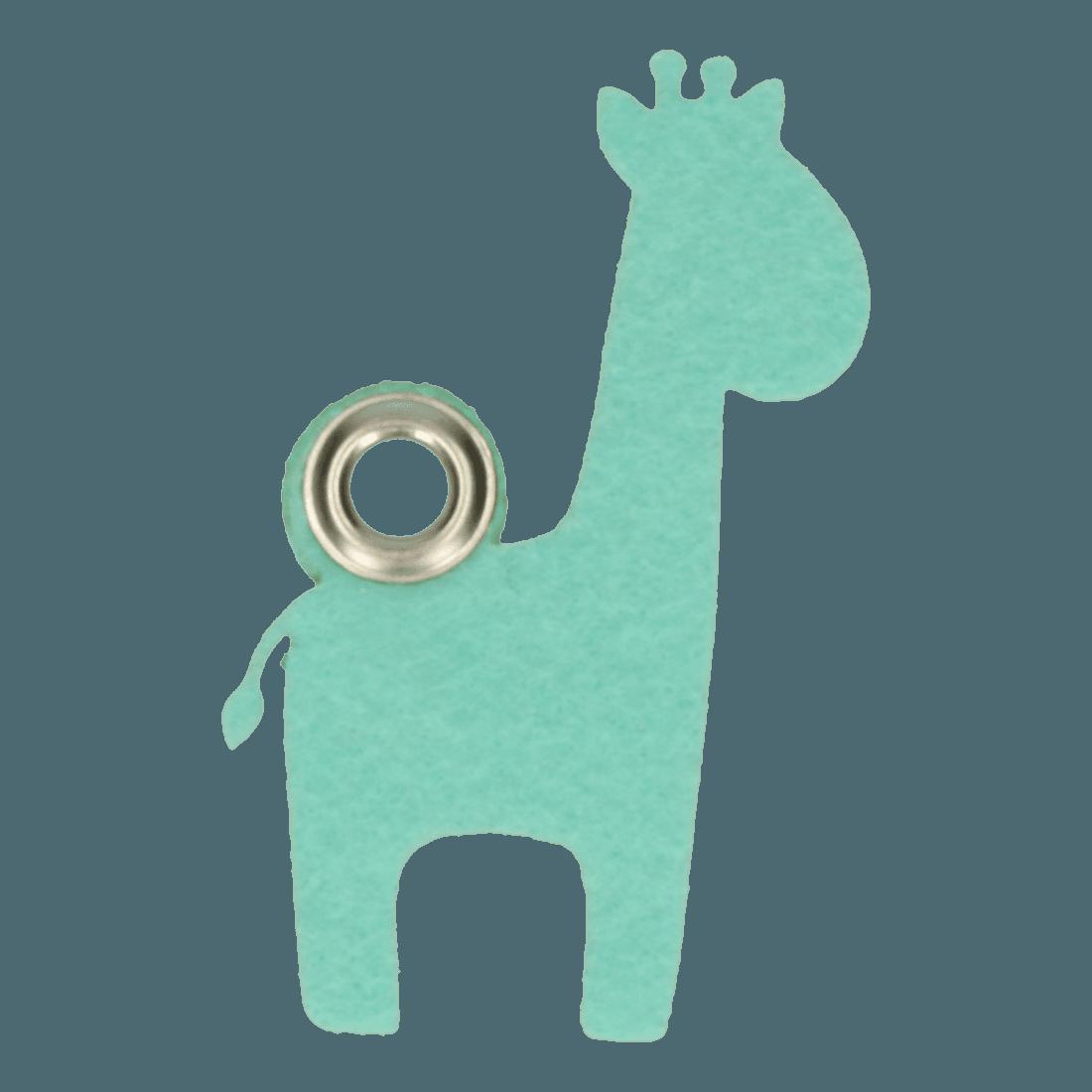 Vilten_sleutelhanger_giraf_mint - 2D image