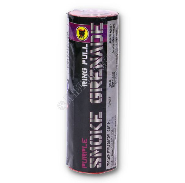 Purple Smoke Grenade - By Black Cat Fireworks